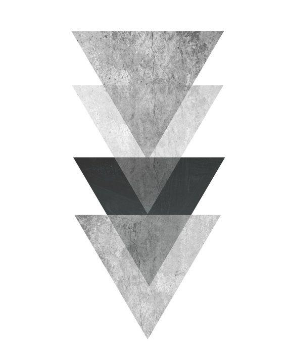 graphic relating to Black and White Printable Art identify Triangle Print, Printable Artwork, Geometric Artwork print
