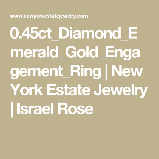 0.45ct_Diamond_Emerald_Gold_Engagement_Ring | New York Estate Jewelry | Israel Rose