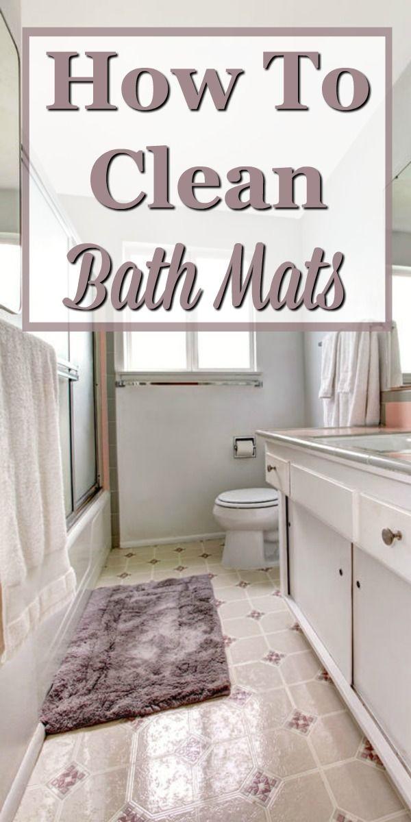 How To Clean Bath Mats   Bathroom cleaning Deep clean ...