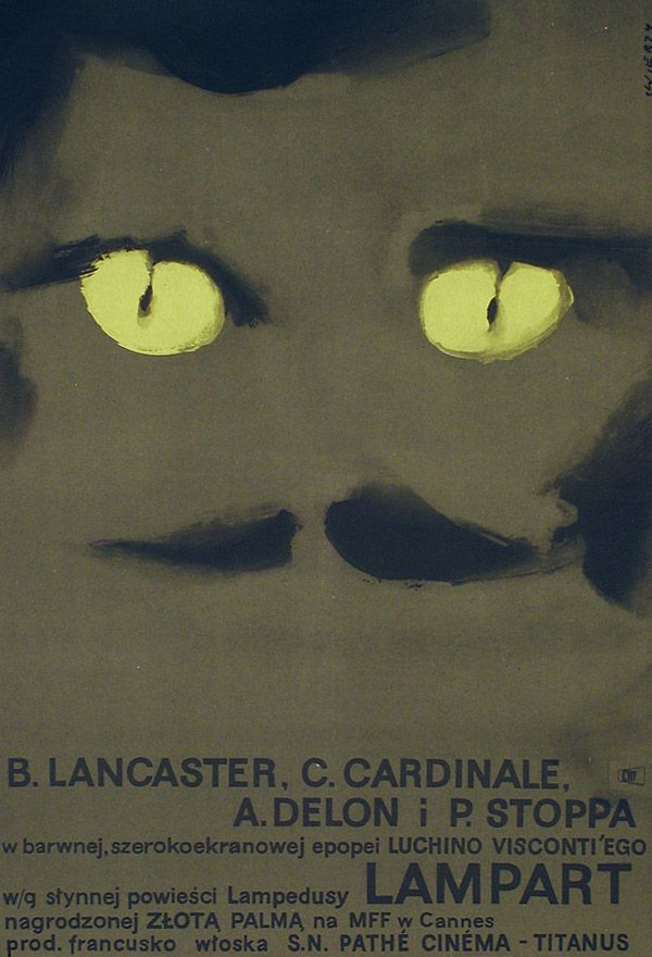 """polish poster for """"the leopard"""" by visconti"""