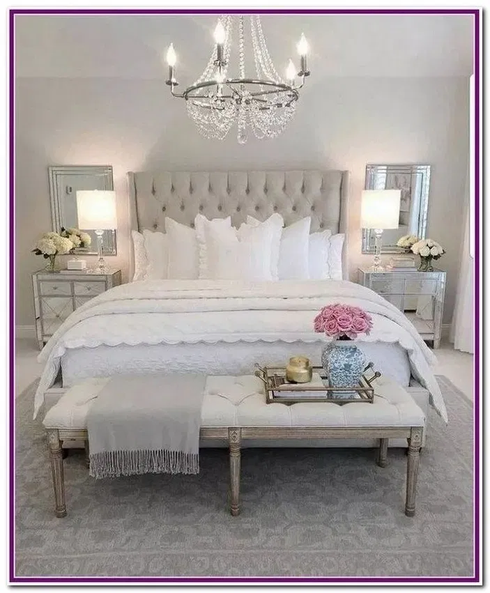 29 Exquisitely Admirable Modern French Bedroom Ideas Glam Bedroom Decor Remodel Bedroom Simple Bedroom