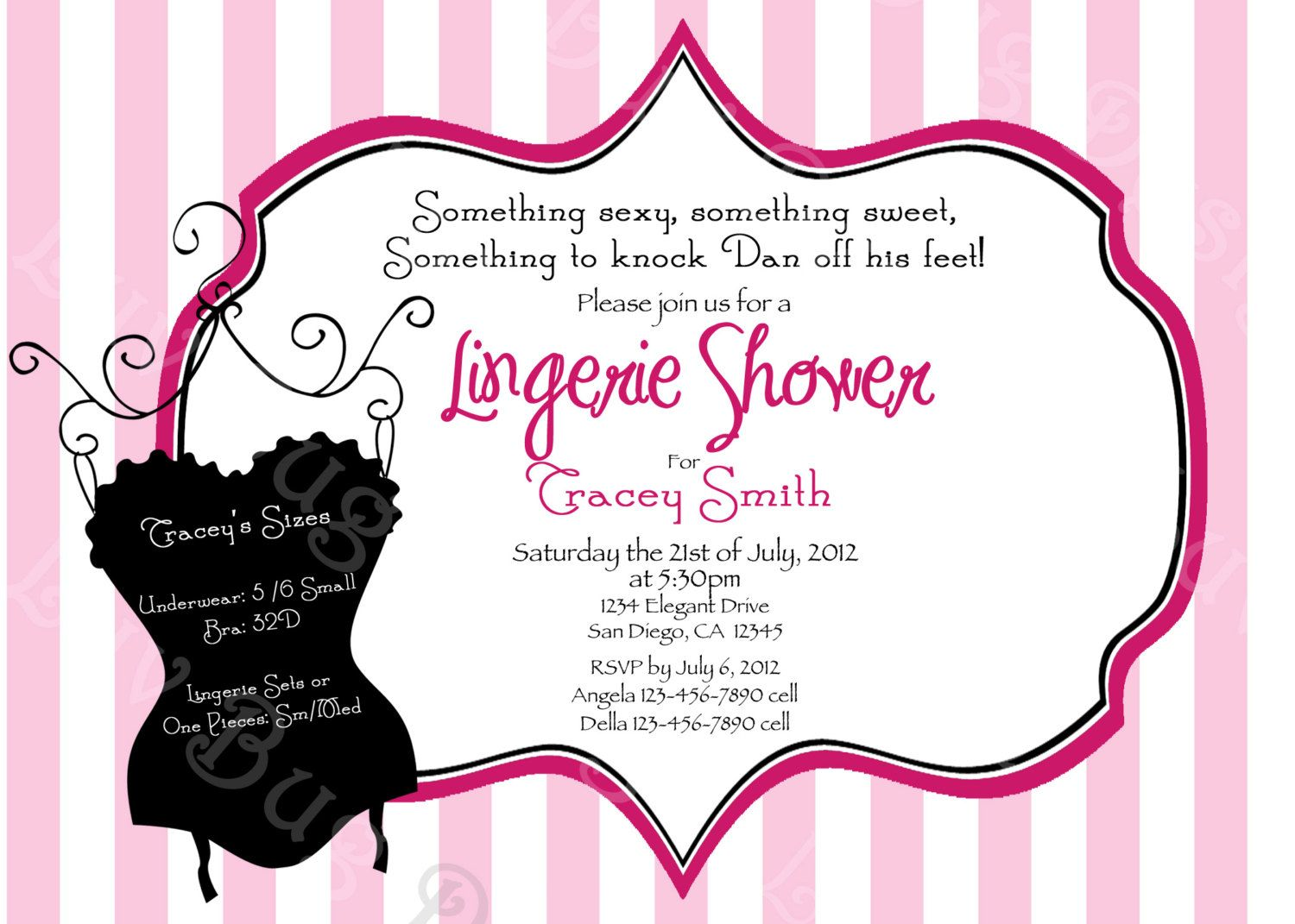 PRINTABLE Corset Bachelorette or Lingerie Party Invitation – Lingerie Party Invite