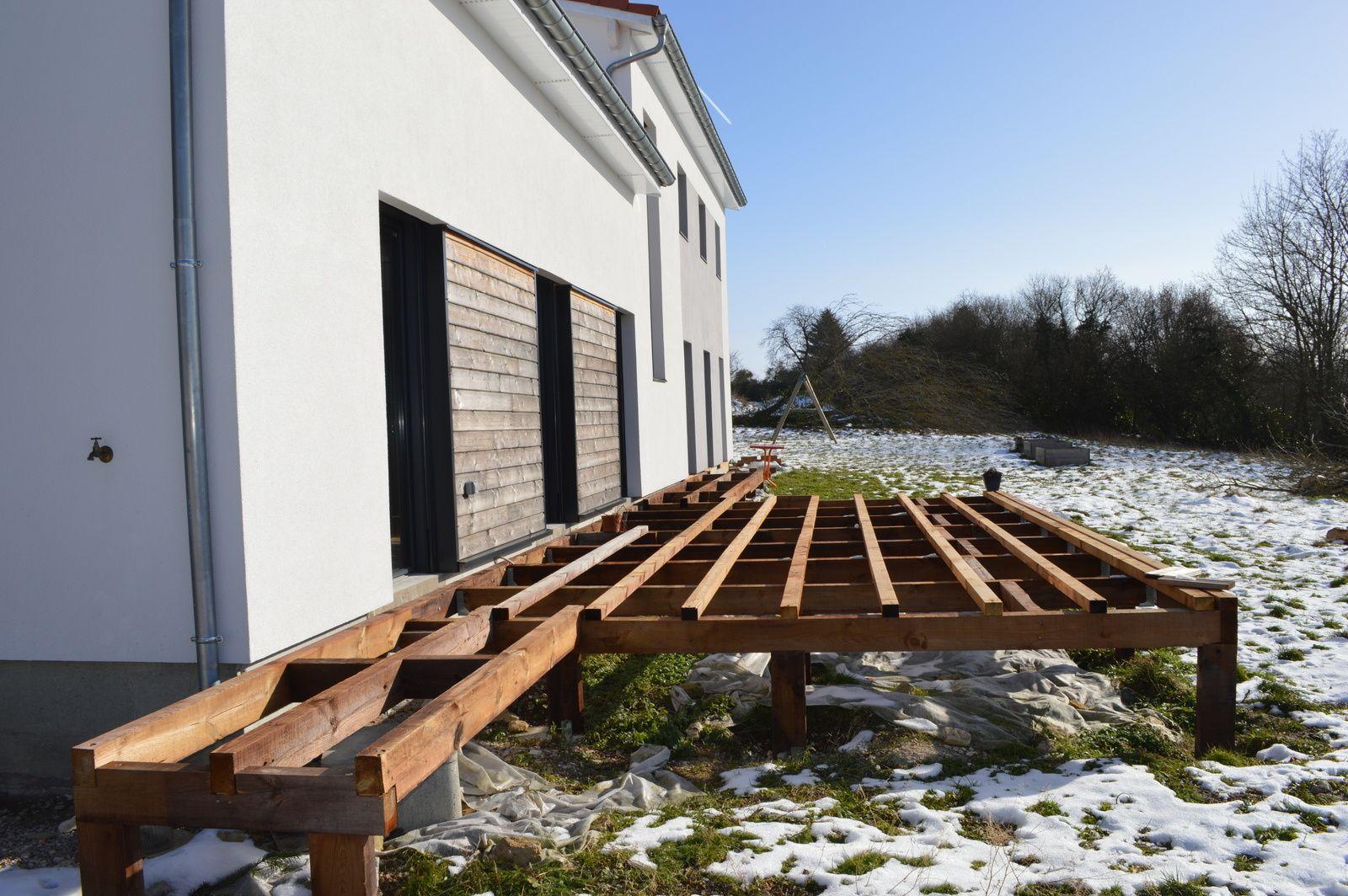 attrayant Terrasse bois sur pilotis - M-AUBu0027s : construction ossature bois