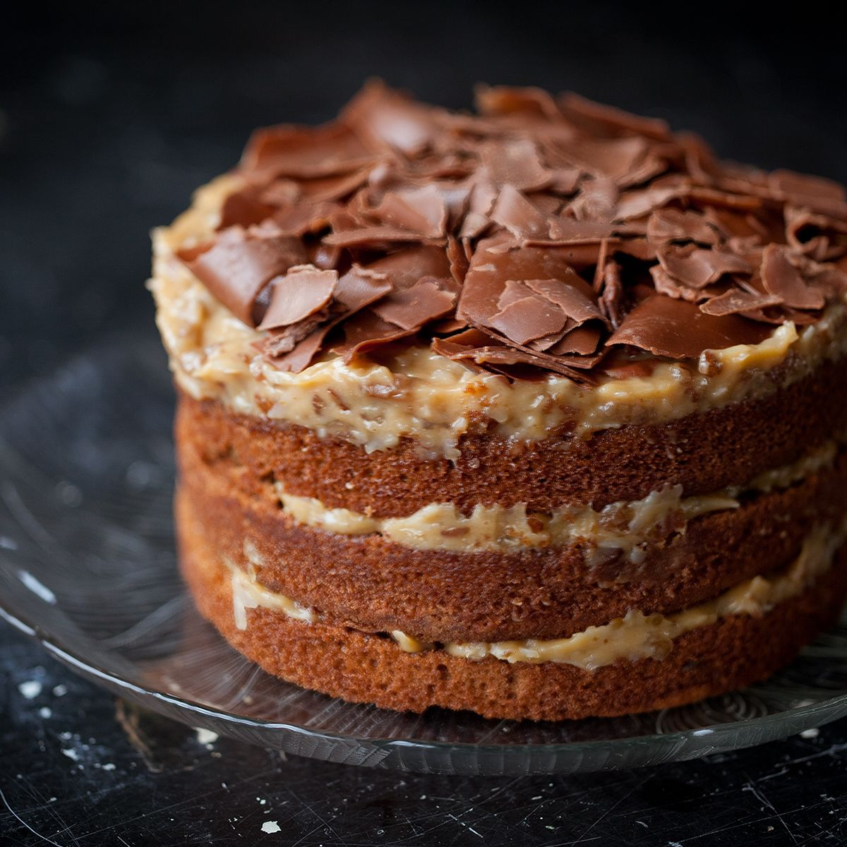 Miss Hulling's German Chocolate Cakes are moist layers of ...