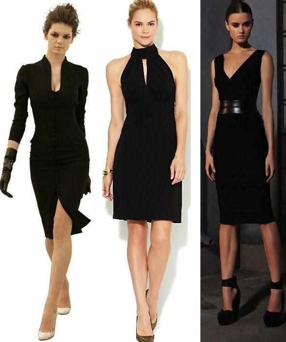 ce4601c89783 VESTIDOS NEGROS CORTOS Y ELEGANTES | fashion | Vestidos, Vestidos ...