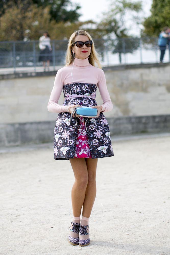 tube dress and turtleneck top