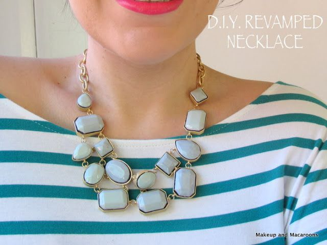DIY - revamp an old necklace with nail polish - Makeup and Macaroons