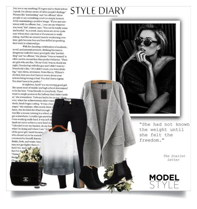 """""""Name It #27"""" by anne-helen ❤ liked on Polyvore featuring Frame Denim, Chanel, women's clothing, women, female, woman, misses and juniors"""