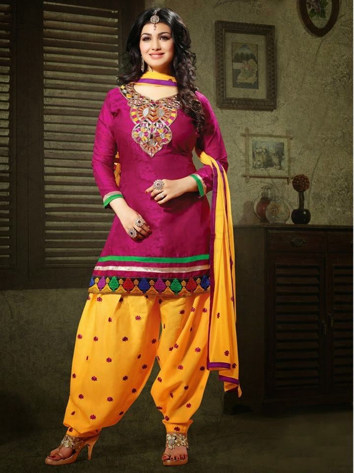 67f43a27f Stylish And Latest Patiala Suits For Young Girls 2015 By Natasha Couture