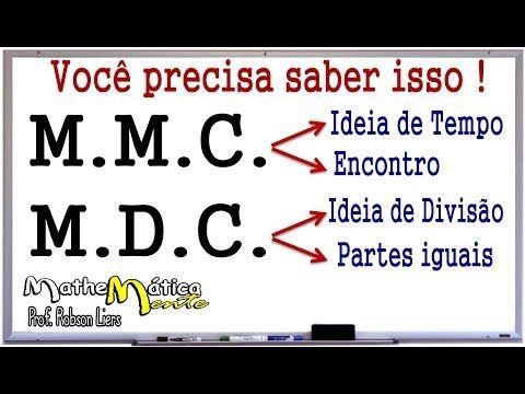 Minimo Multiplo Comum E Maximo Divisor Comum Mmc E Mdc Prof