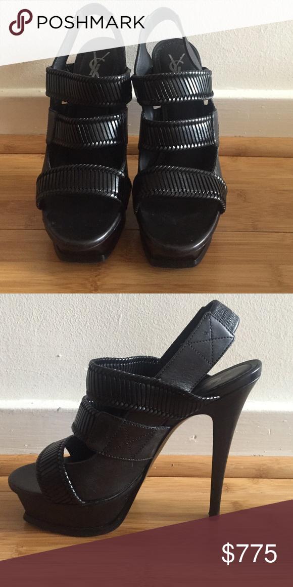ccef60b2575 Yves Saint Laurent Sandals Sexy black sandals, 6 inch heel, 1inch platform,  worn twice. Original bag and box! Size 38.5 Yves Saint Laurent Shoes Sandals