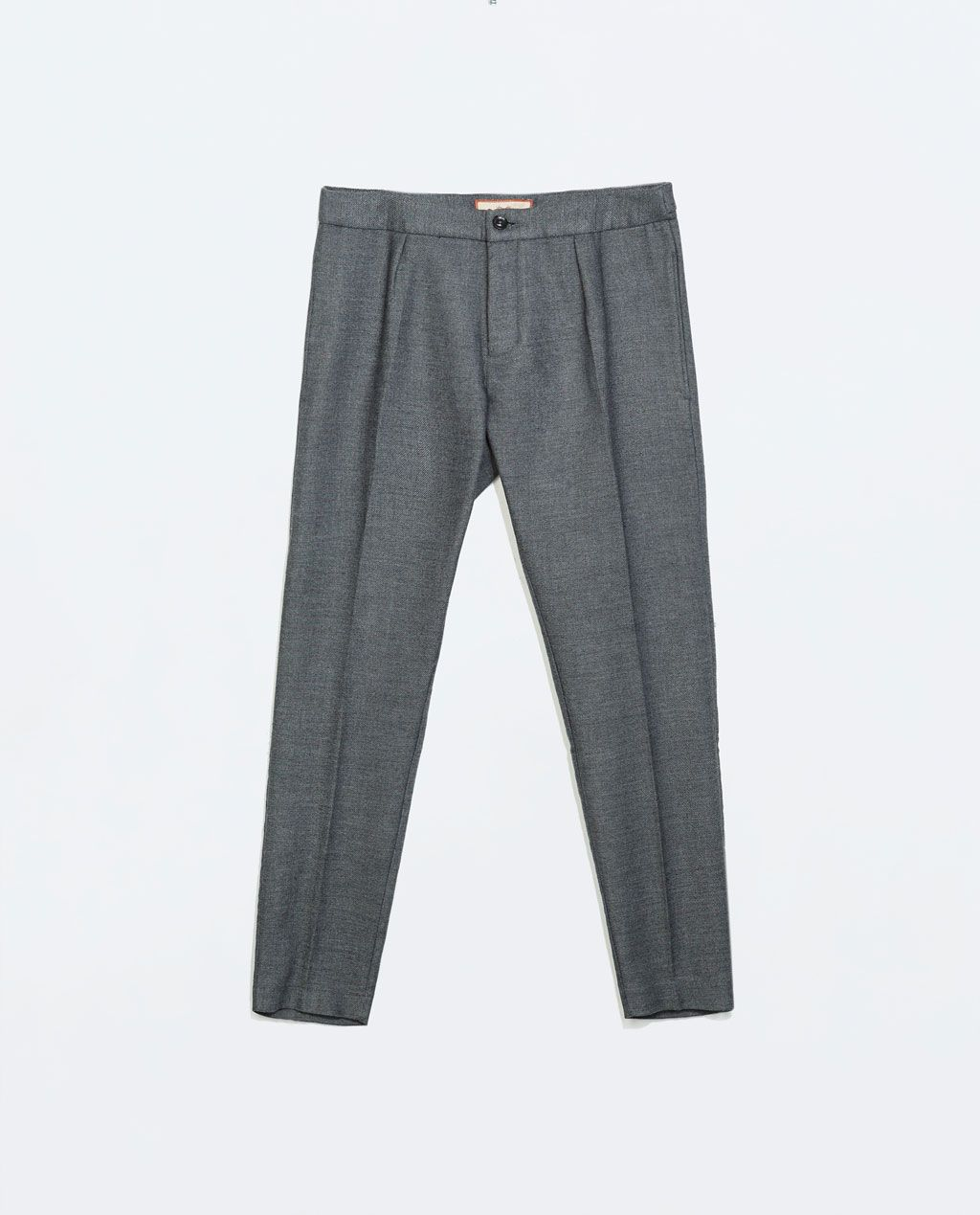 ZARA - NEW THIS WEEK - THICK GREY TROUSERS