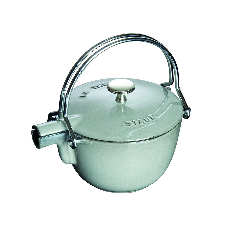 staub 1 quart round teapot graphite grey click on the image for