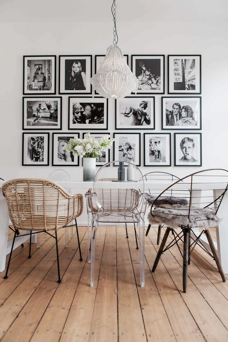 Dining Room Design – Iconic Retro Portraits Dining Room #framesandborders