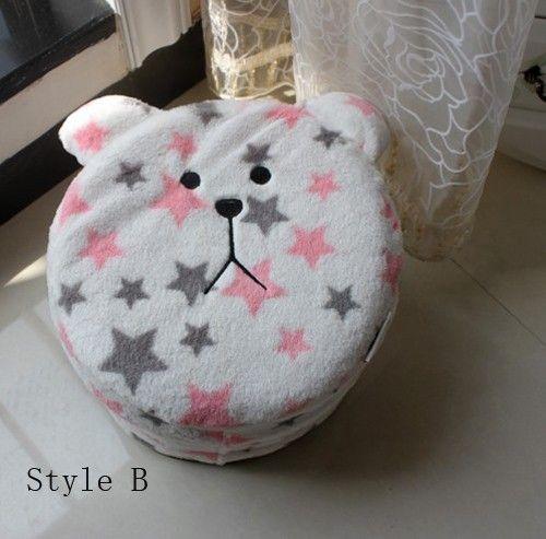 Lovely Plush Bear Inflatable Furniture Stool