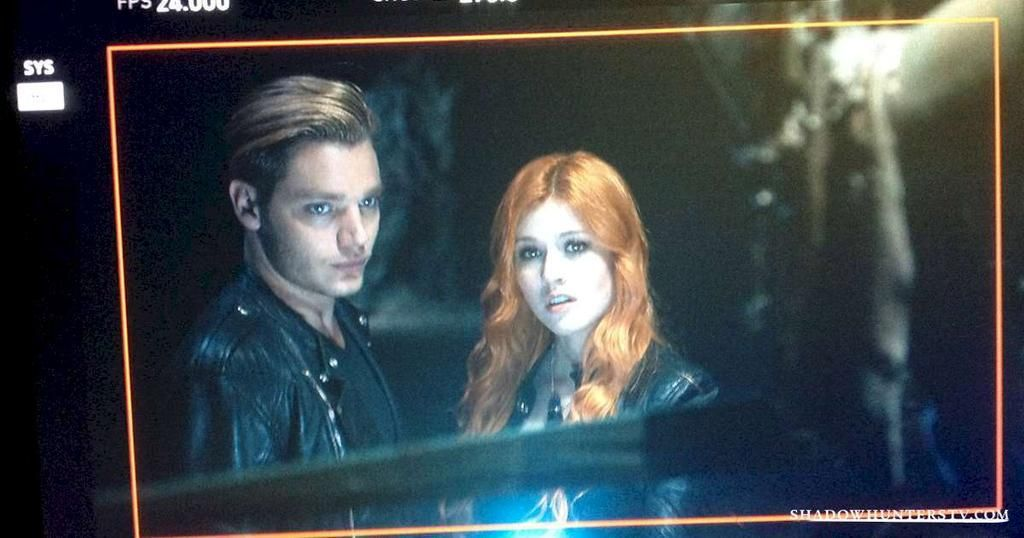 Another look at Clary and Jace... #Shadowhunters