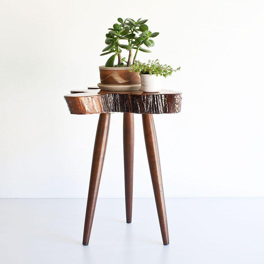 Vintage Cypress Side Table | dotandbo.com