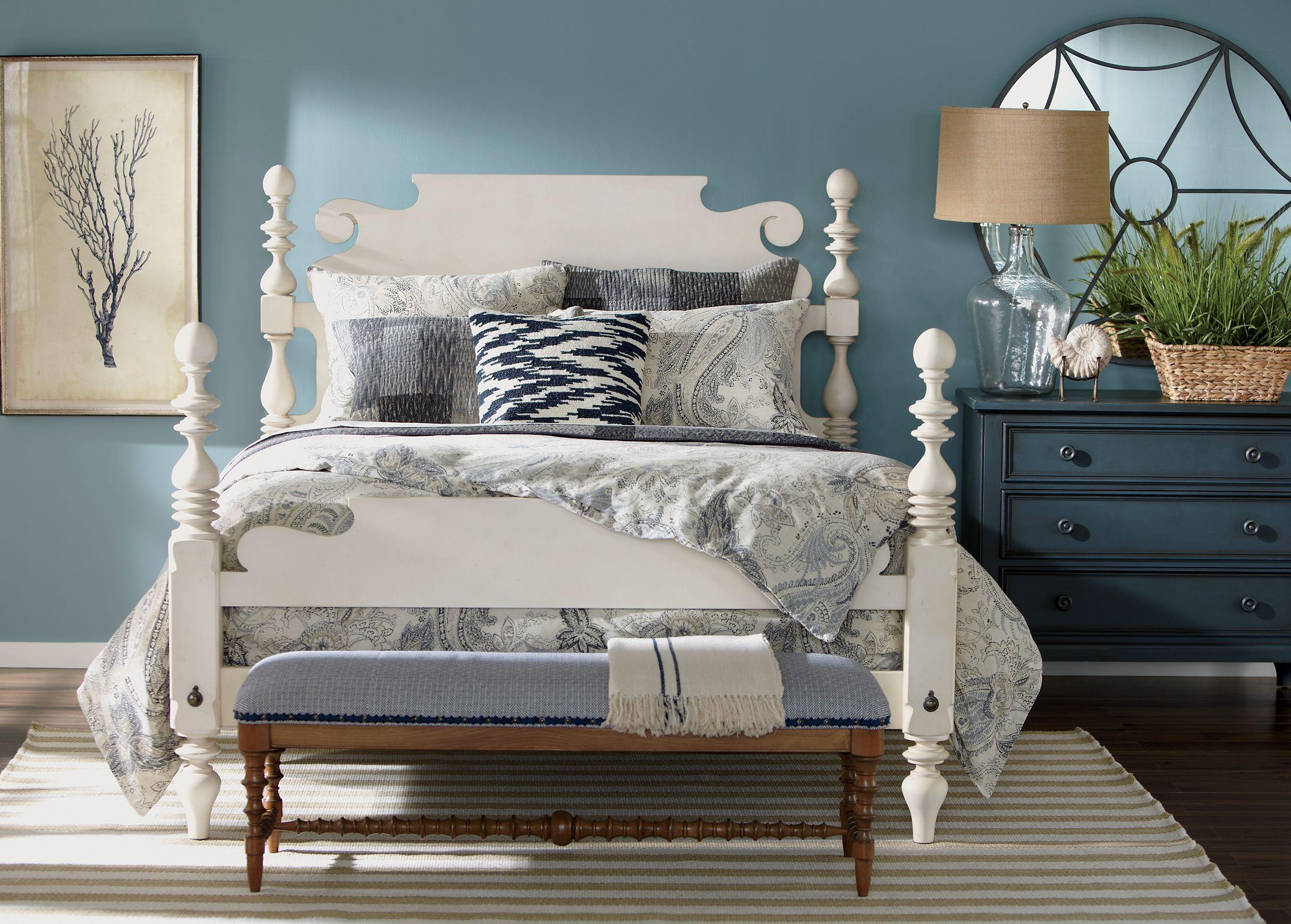 Quincy Cotton Bedroom  Ethan Allen  White bedroom furniture