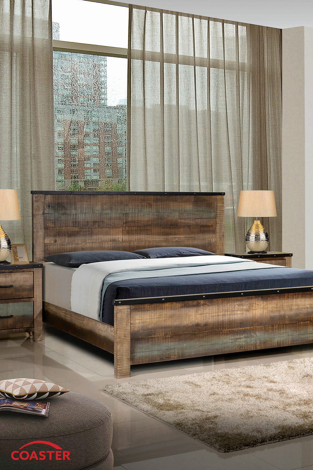 Coaster Fine Furniture's exclusive bed is perfect for fans