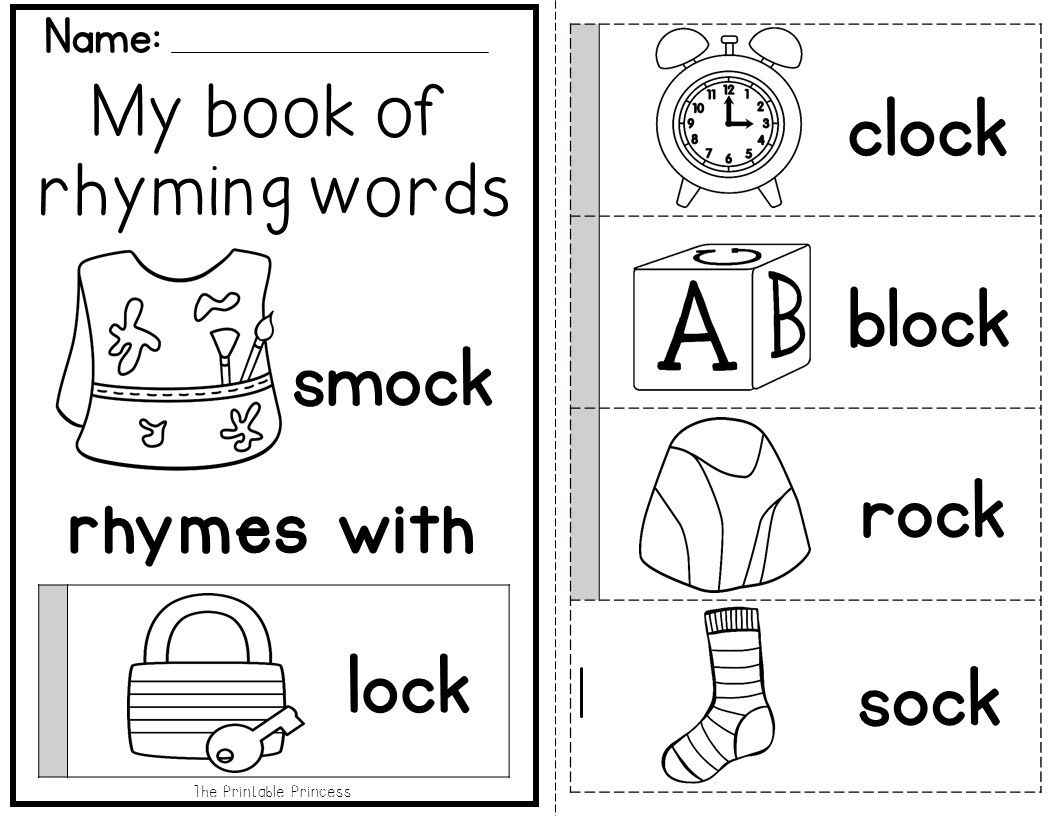Flip Books To Teach Rhyming Words And Word Families Includes 45 Different Books And An