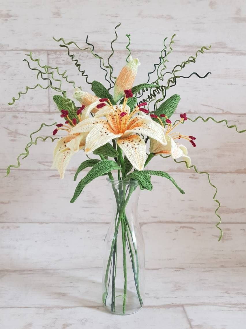 Crochet Tiger Lily Flower Pattern and instructions - Crochet Tiger ...