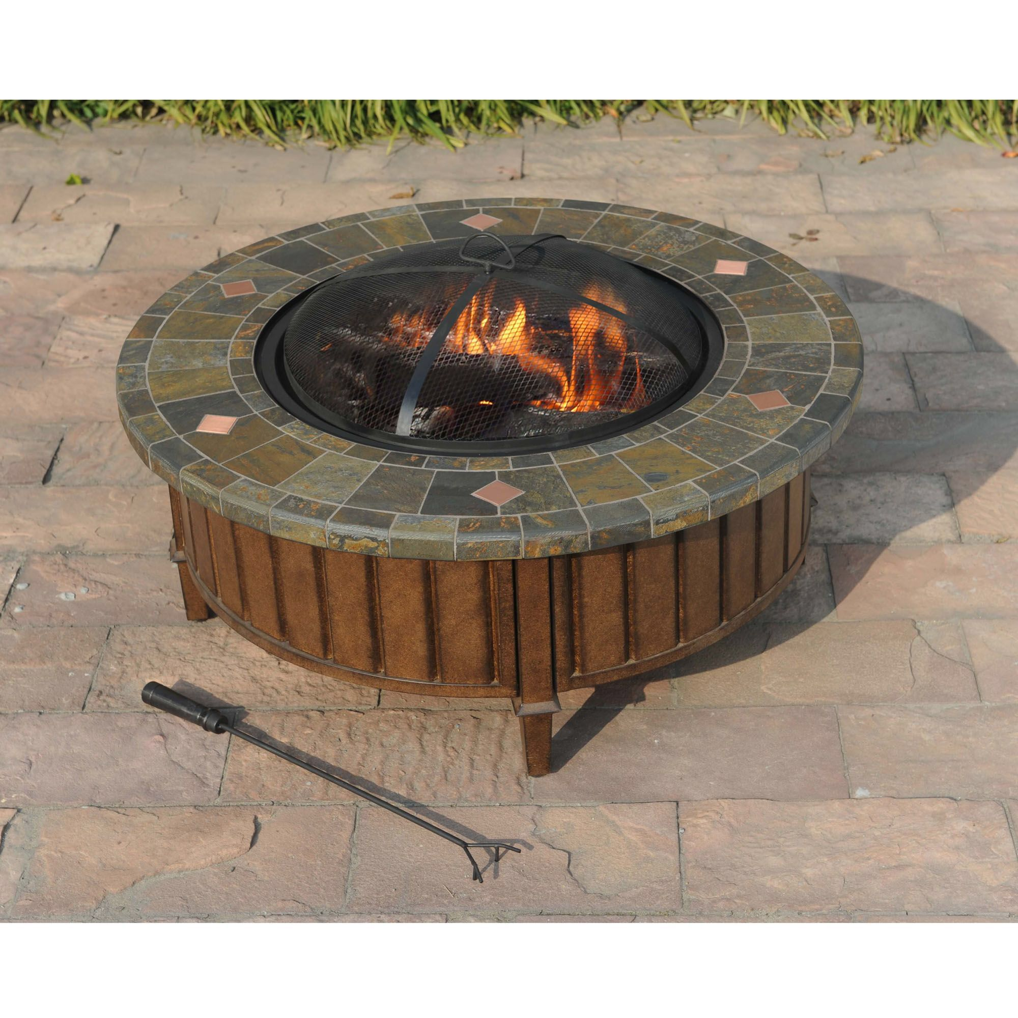 Pecan Fire Pit | Wood burning fire pit, Outdoor fire pit ...