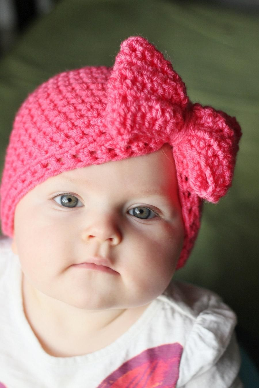 Big bow hat, 6 sizes available, Micro preemie Hat, Hat for baby ...