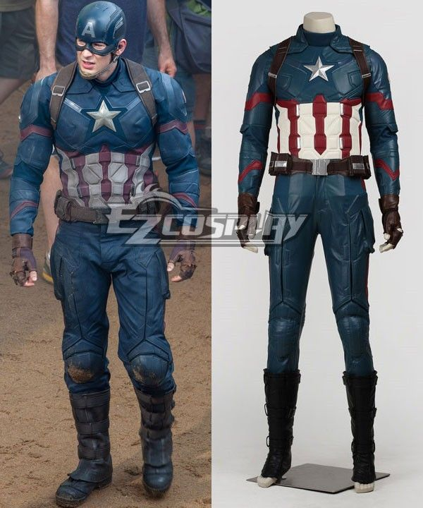 224d9bbf47f Deluxe Adult Captain America  Civil War Steve Rogers Cosplay Costume -  DeluxeAdultCostumes.com