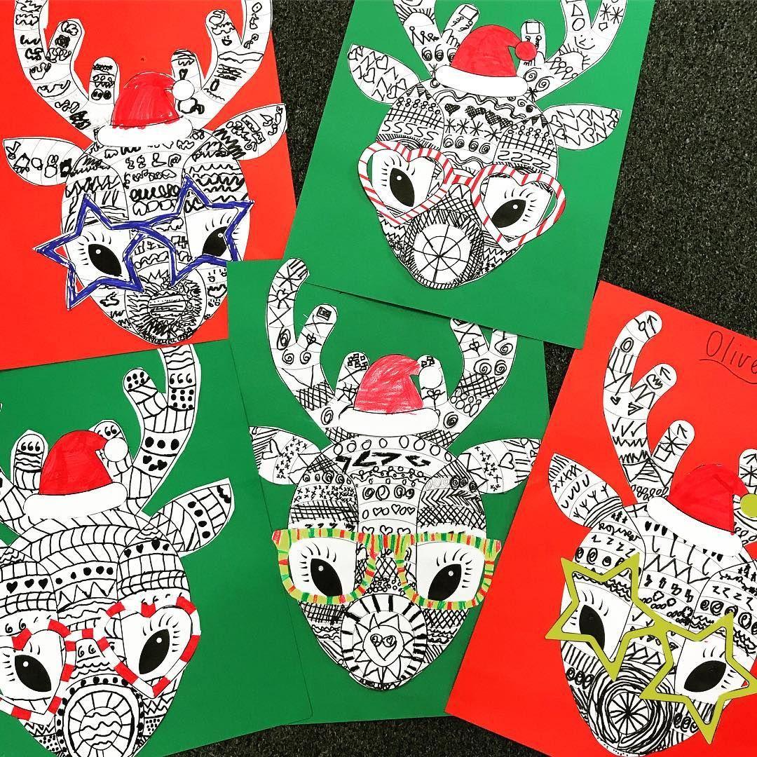 Funky Reindeer Craft Template Teaching Resource | Teach Starter