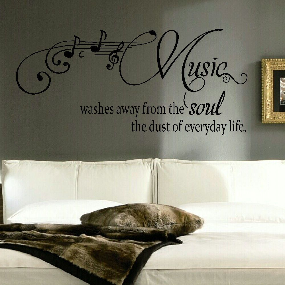 Details about LARGE QUOTE MUSIC WASHES SOUL EVERYDAY LIFE ...