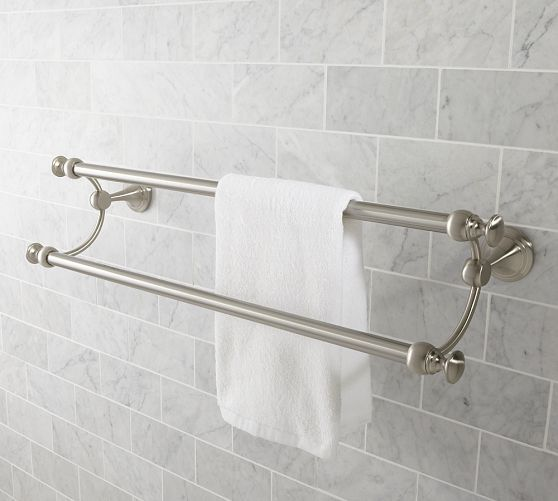 Mercer Double Towel Bar Towel Bar Bathroom Fixtures Bath Fixtures
