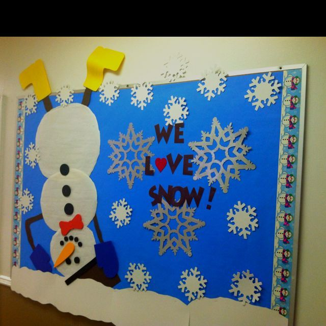 Winter Bulletin Board Add A Cutout Snowball Or Snowflake For Students To Write W January Boards Christmas