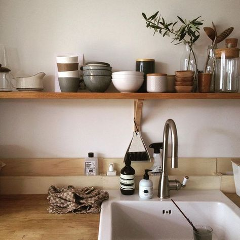 """Tinta on Instagram: """"Clean #kitchen and then nothing more to do just watching the birds in our garden and listen to my daughter who is playing with the kids in…"""" #minimalkitchen"""