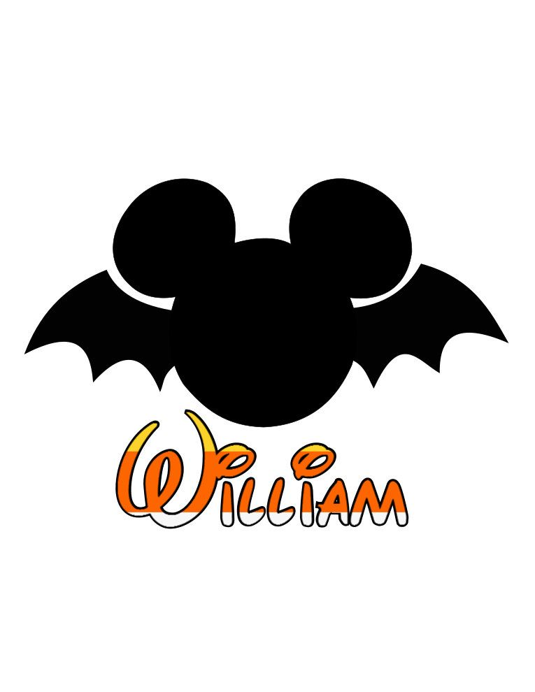 custom personalized disney mickey halloween bat iron on transfer rh pinterest com Halloween Border Clip Art Cute Halloween Clip Art