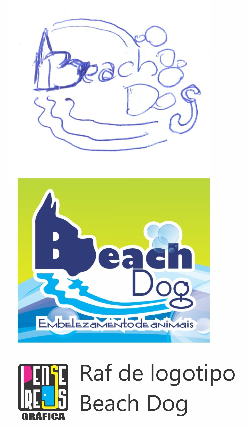 Raf de logotipo. Job Beach Dog
