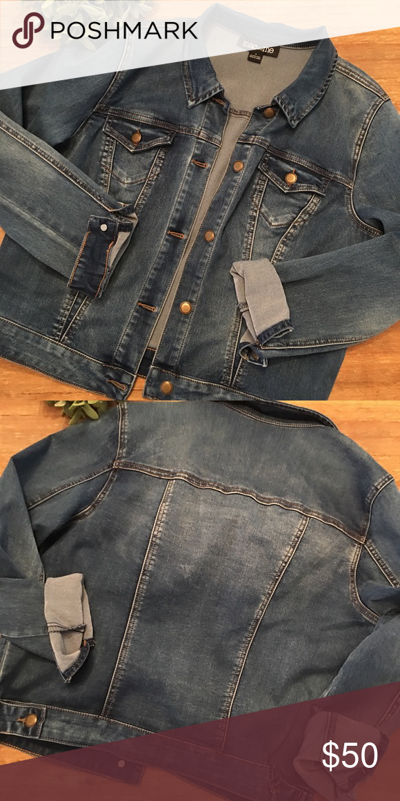 1f57dee7d62 Mac and Me dark denim jean jacket in Large Awesome denim jacket with stretch  in a size large. This jacket is new without tags and has only been tried  on. ...
