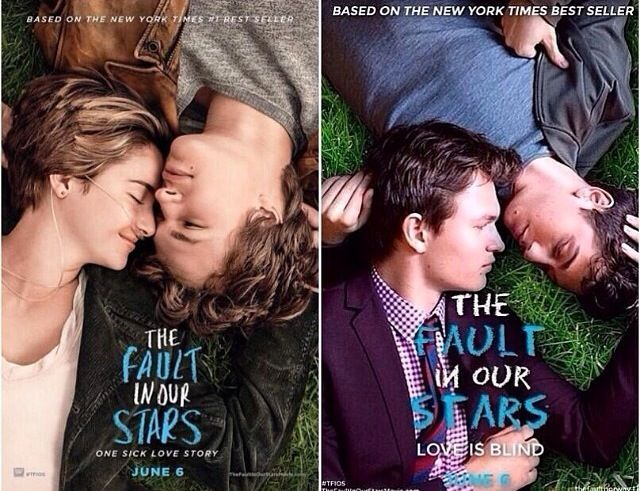 Nat Wolff and Ansel Elgort remaking the TFIOS poster. You ...
