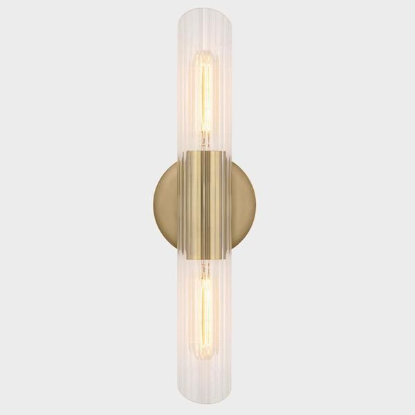 Fifth And Main Lighting James 2 Light Aged Brass Small Wall Sconce