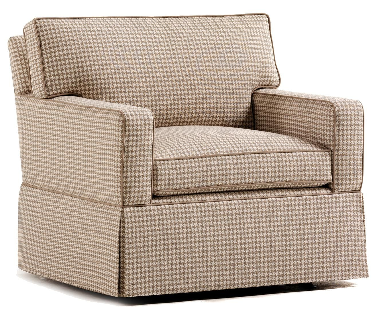 Fine Upholstered Accents Nate Swivel Chair    by Jessica Charles