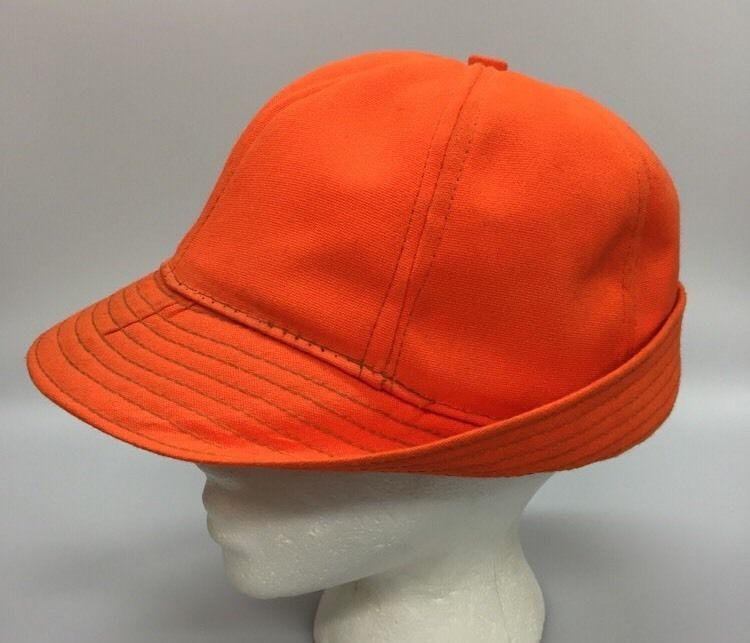 d3489d9e380 Vintage Jones Hunting Cap Hat Blaze Orange Canvas Small Made in USA   Unbranded
