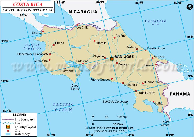 Costa rica latitude and longitude map costa rica pura vida costa rica latitude and longitude map gumiabroncs Image collections