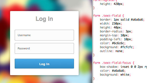 HTML + CSS3 Login & Register Forms