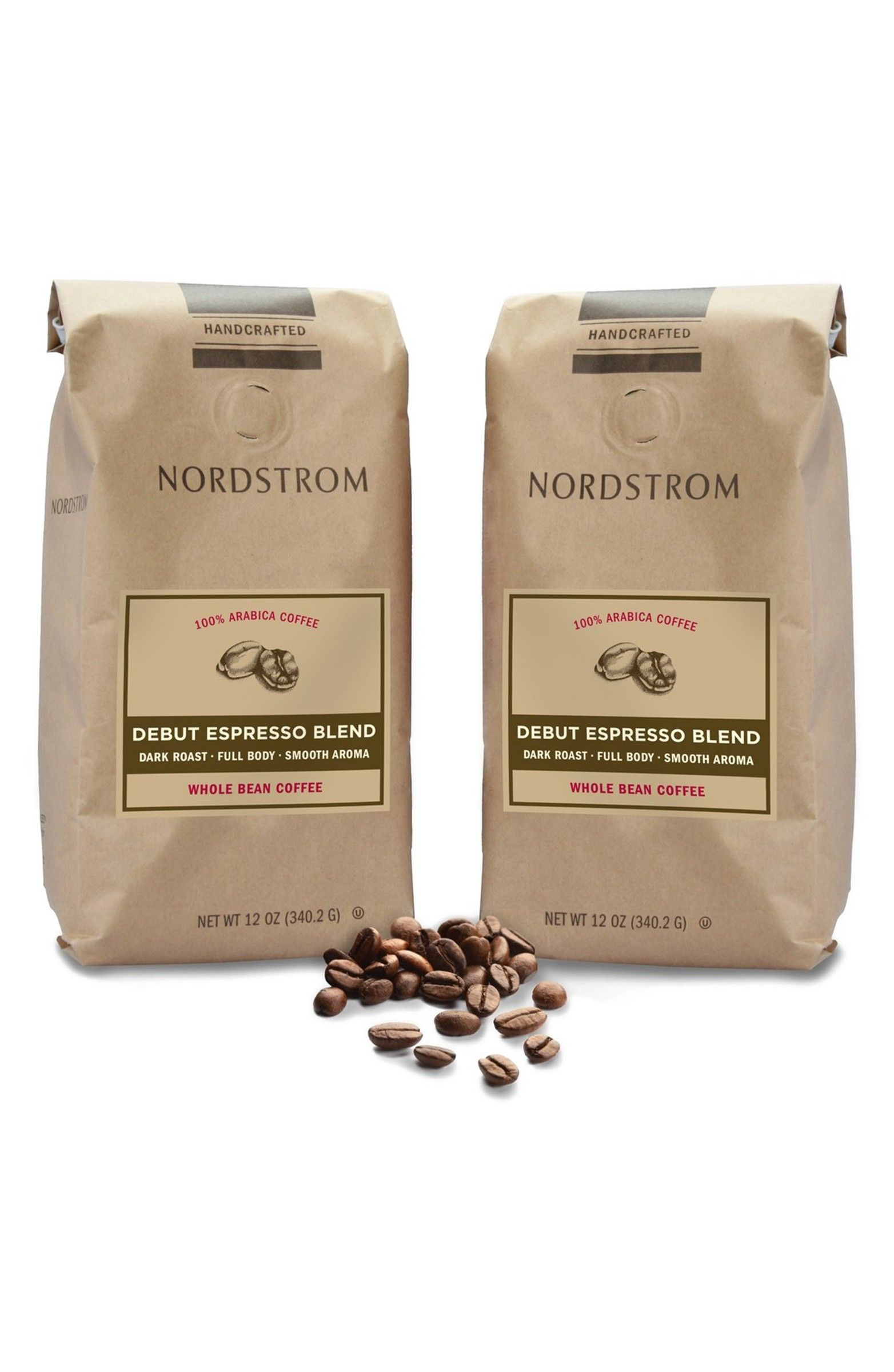 2Pack Coffee Debut Espresso Blend Whole Bean Coffee