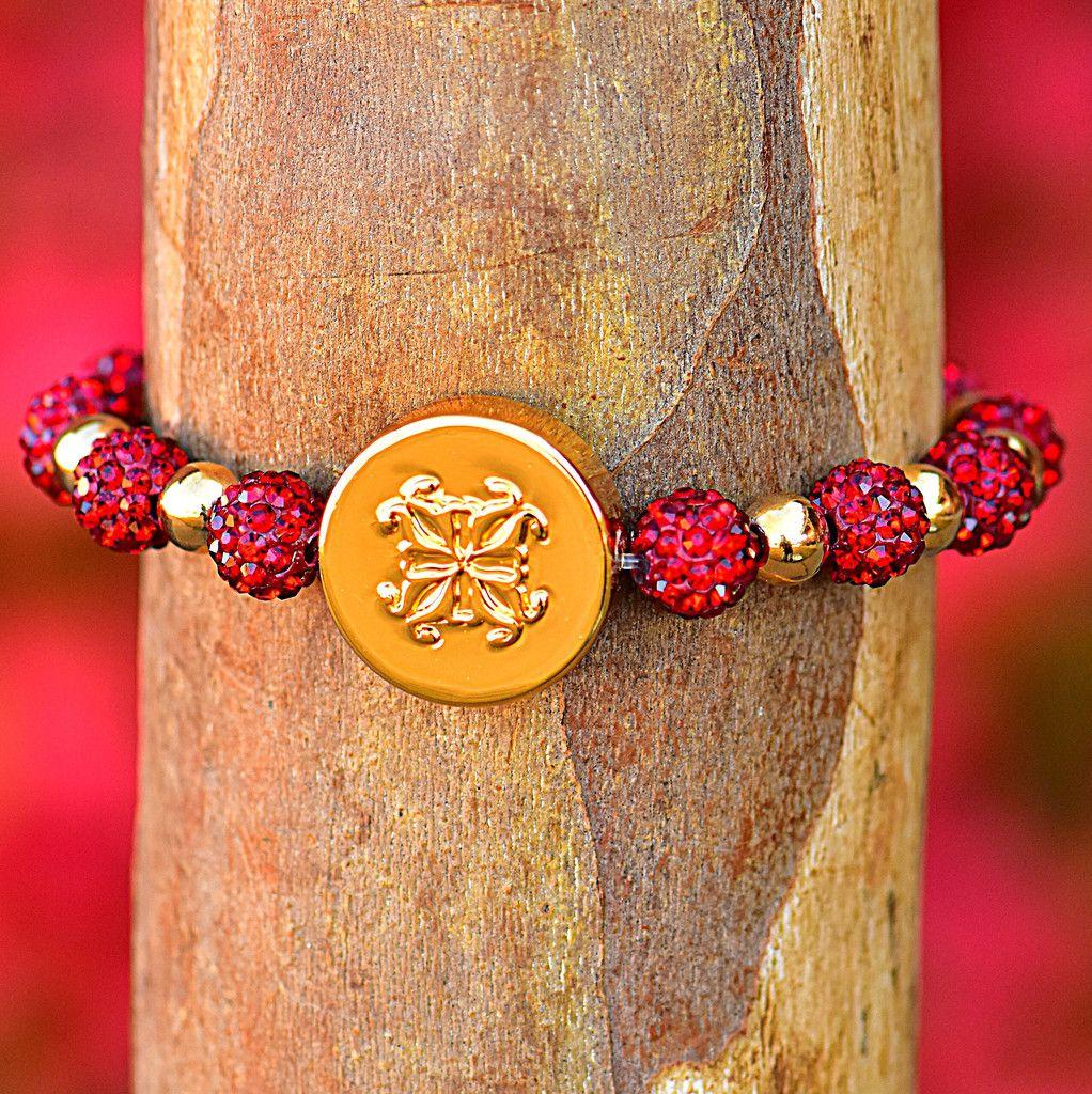 Brandi Red W Gold Rustic Cuff Jewelry Jewelry Rustic Cuff Rustic