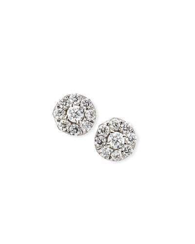 Roberto Coin 18k White Gold Diamond Halo Stud Earrings IAVurK