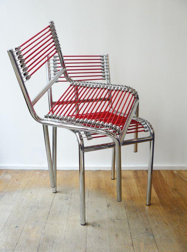 ren herbst 1891 1982 paire de chaises mod le sandows