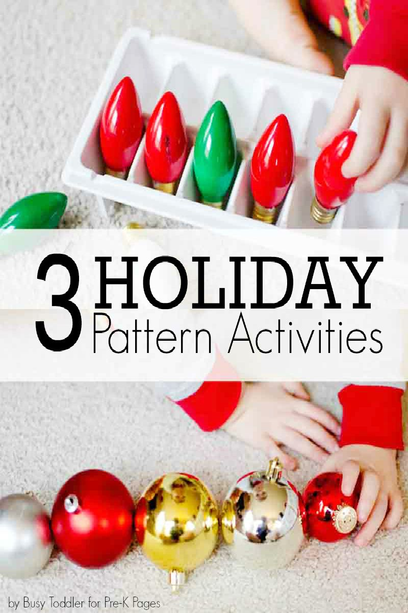 Making Patterns with Holiday Items | Kindergarten, Holidays and Child