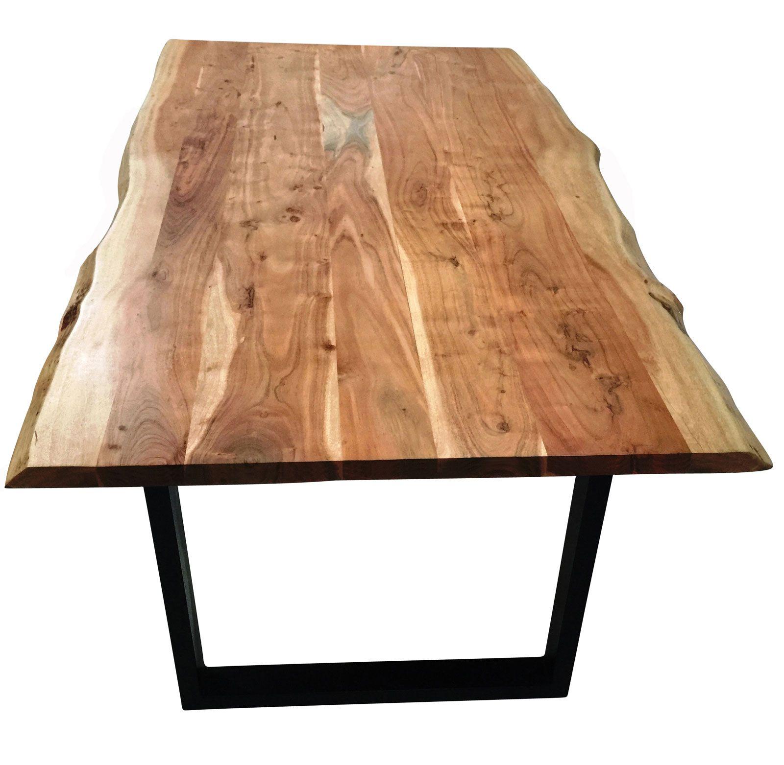 Massivholz Esstisch Mit Schwarze Fusse Esstisch Baumkante