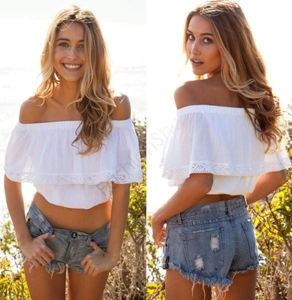 a561d8f0e3b047 Womens trendy lace blouse crop top - For the modern woman - Unique style  make you more beautiful fashion and elegant - Perfect for casual party or  club ...