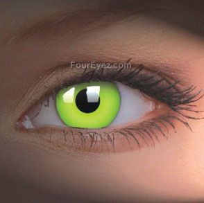 Green UV Contact Lenses (Pair) Maybe too bright? Want bright green with a black ring around
